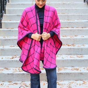 Other - Pink, Plaid Poncho